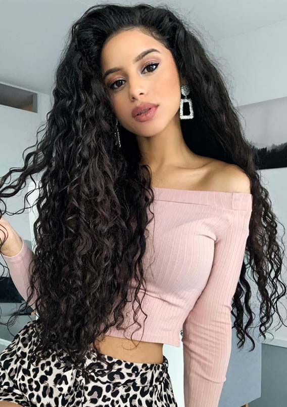 22 Hottest Black Curly Hairstyles for Long Hair in 2019 | Absurd .