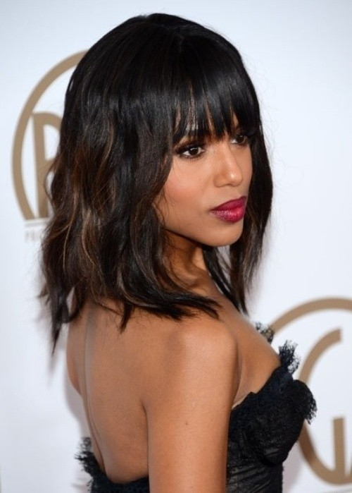 10 New Black Hairstyles with Bangs - PoPular Haircu