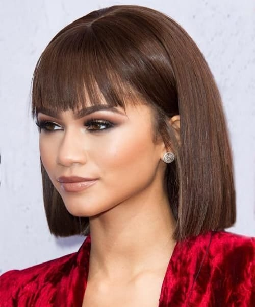 22 Uplifting Black Hairstyles with Bangs [2019] – SheIde