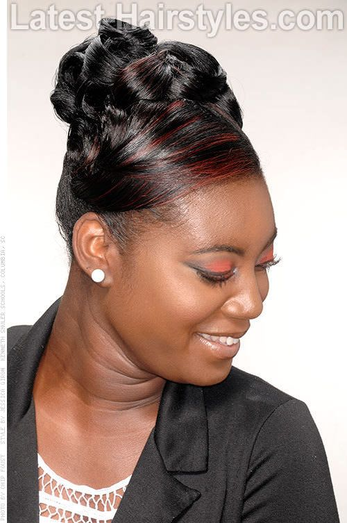 black updo hairstyles with twists and humps - Google Search .