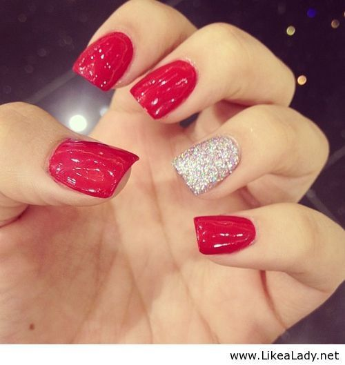 Matte Nails Designs : 16 Bloody Hot Red Nails for Women - Polyvore .