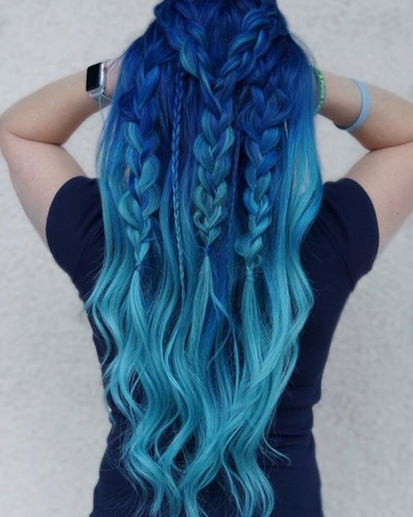 100 Stunning Blue Hair Options for a Bold Look - Style Easi