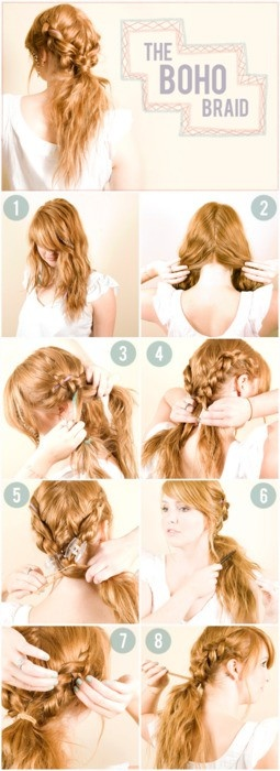 Boho Twisted Hairstyles and Tutorials