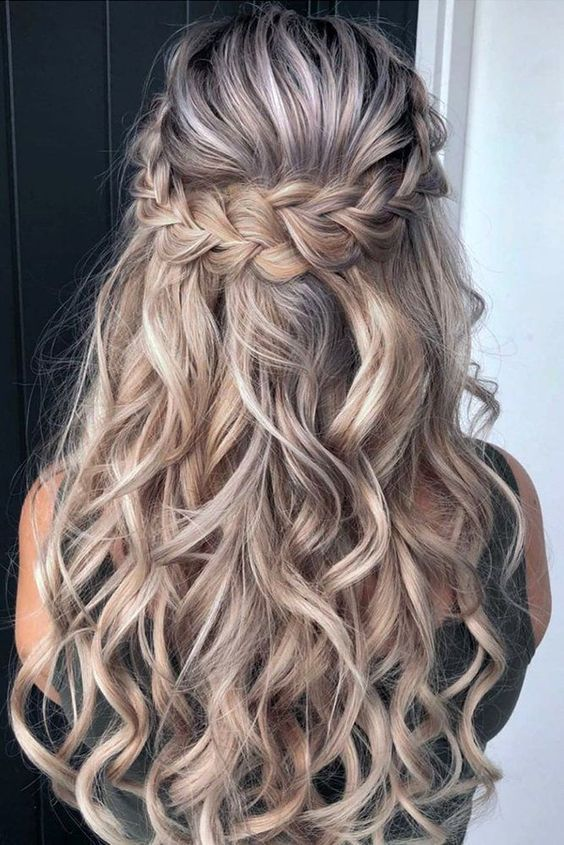 Gorgeous and elegant half up half down wedding hairstyles with .