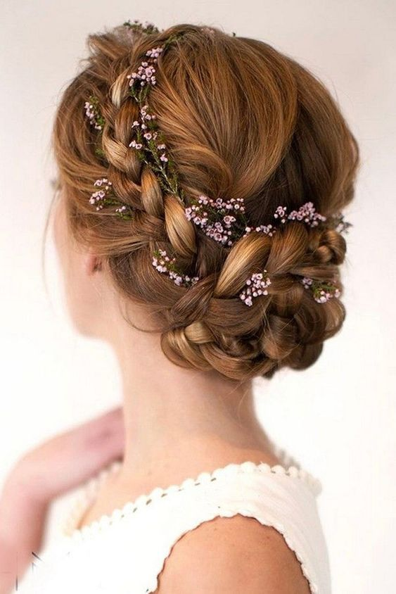 42 Gorgeous Wedding Hairstyles---updo hairstyle with flowers and .