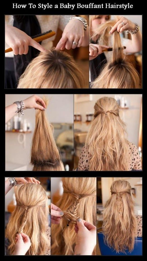How To Style a Baby Bouffant Hairstyle | hairstyles tutorial .