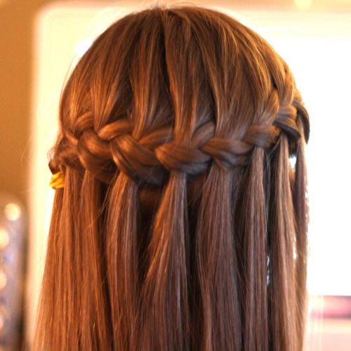 truebluemeandyou: Waterfall Braid. Gorgeous. DIY Waterfall Braid .