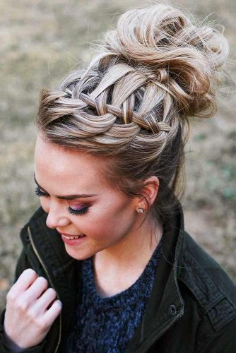 Braided and Bun Hairstyles for Spring