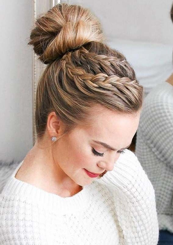 43 Gorgeous Double Lace Braid High Bun Hairstyles for 2019 .
