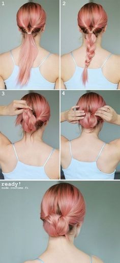 15 Braided Bun Hair Tutorials for DIY Projects | Braids for long .