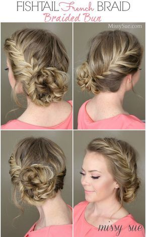 15 Braided Bun Hair Tutorials for DIY Projects (With images .