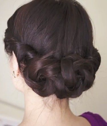 Braided floral updo tutorial - cute style for spring | Braided .