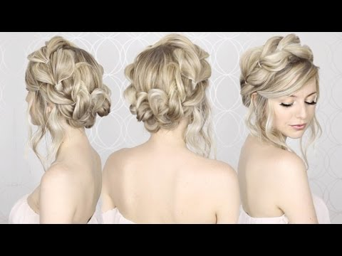 HOW TO: Pull Through Crown Braided Hair Tutorial | Summer inspired .