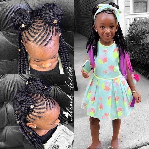 Toddler Braided Hairstyles with Beads | Toddler braided hairstyles .