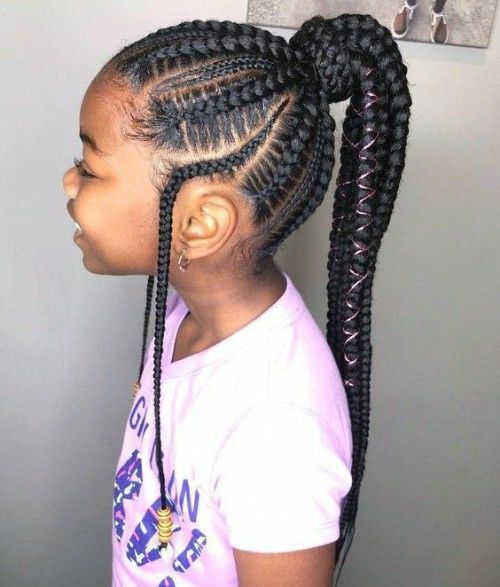 Black Kids Hairstyles with braids, Beads and Other Accessories .