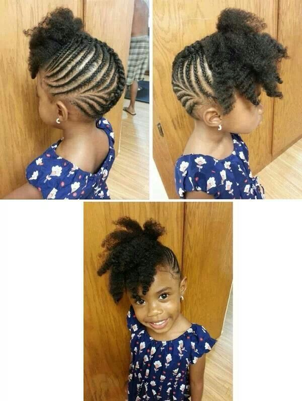 Pretty updo | Natural hairstyles for kids, Natural hair styles .