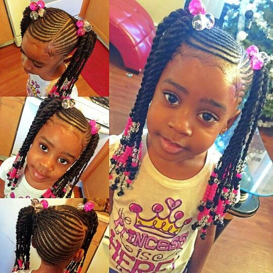 Cute kids braid and twist style | Hair styles, Natural hair styles .
