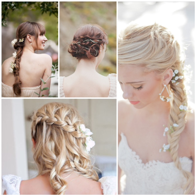 Lake Tahoe Wedding Inspiration | Braided Wedding Hairstyles with .