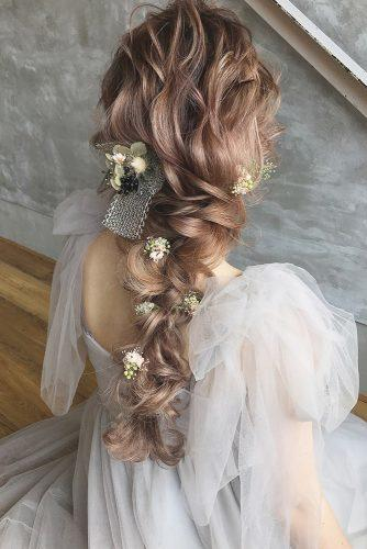 33 Wedding Hairstyles With Flowers For Your Fairytale D