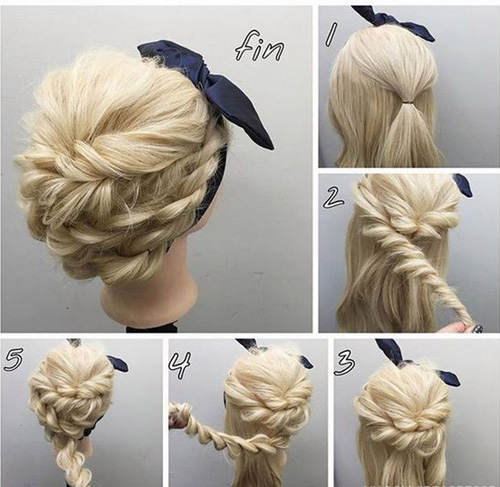 Easy Tutorial for Rope Braided Updo Hairstyles 2017 | Dinga Poon