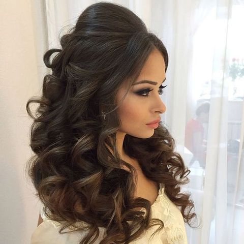 71 Breathtaking Wedding Hairstyles With Curls | Quince hairstyles .