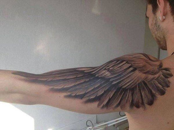 35 Breathtaking Wings Tattoo Designs | Feather tattoos, Wing .