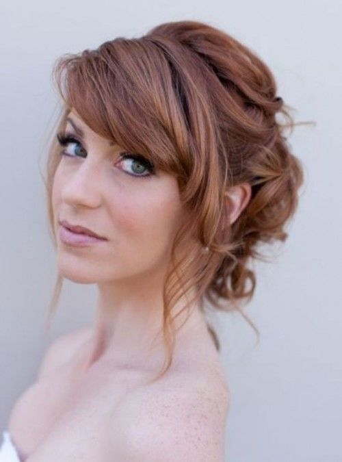 52 Chic And Pretty Wedding Hairstyles With Bangs | Wedding hair .