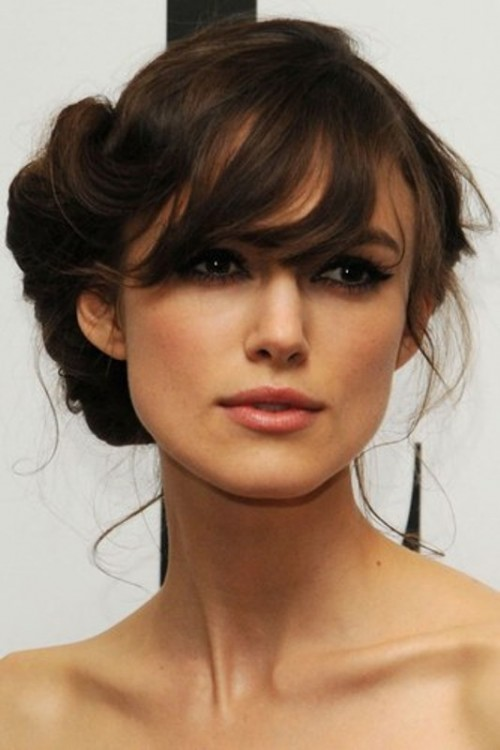 52 Chic And Pretty Wedding Hairstyles With Bangs - Weddingoman