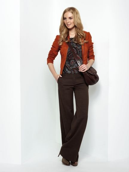 Brown + Pop of Orange ----- It's definitely time to transition to .