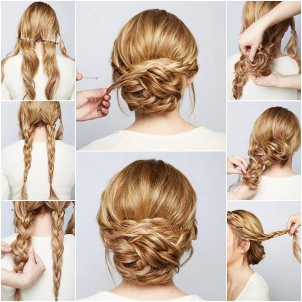 Wedding Updo Hairstyles Tutorials | Braids for long hair, Braided .