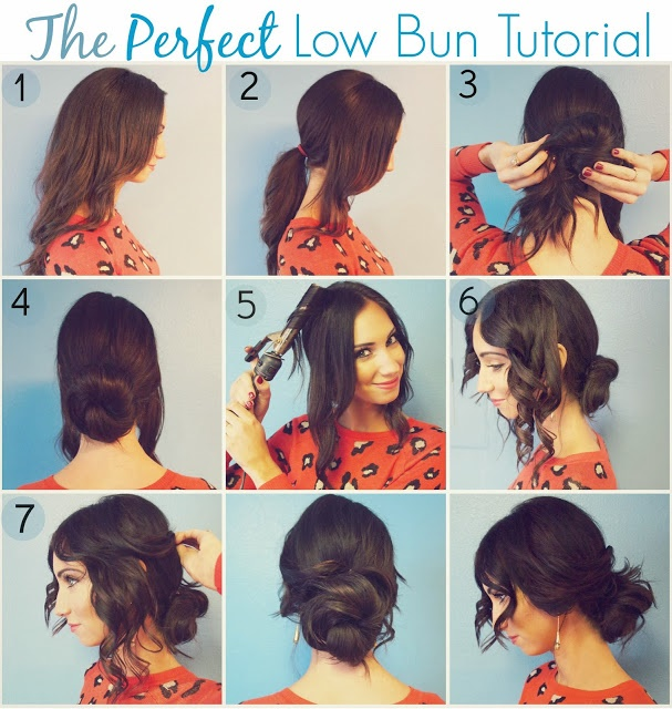 Romantic Low Bun Hairstyle Tutorial - AllDayCh