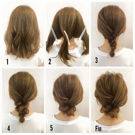 40 Quick And Easy Updos For Medium Hair | Hair tutorials for .