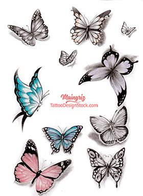 10 amazing butterflies tattoo designs – Tattoo Design Sto