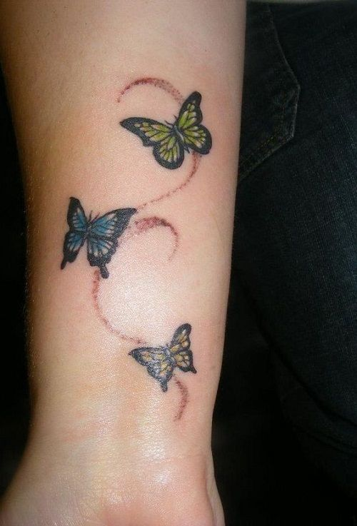 110 Small Butterfly Tattoos with Images | Butterfly wrist tattoo .