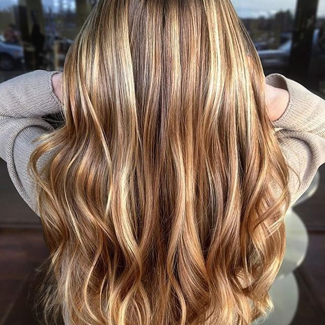 Caramel Balayage Brunette (With images) | Gold blonde hair, Long .