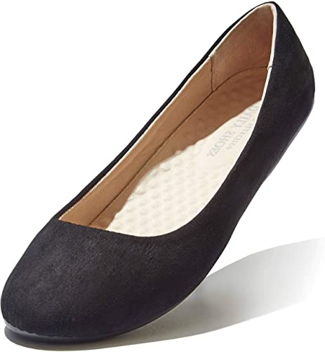 Amazon.com | DailyShoes Women's Classic Flats Comfortable Upper .