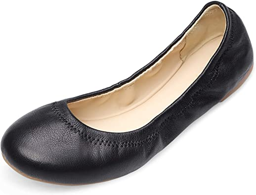Amazon.com | Xielong Women's Chaste Ballet Flat Lambskin Loafers .