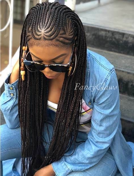 Fulani Black Braided Hairstyles with color For Celebrities | Cool .