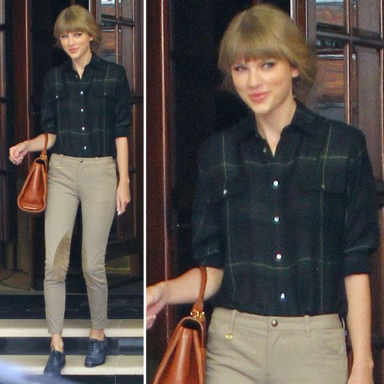 Taylor Swift's Smart Style: Knee-Patch Riding Pants and Blue .