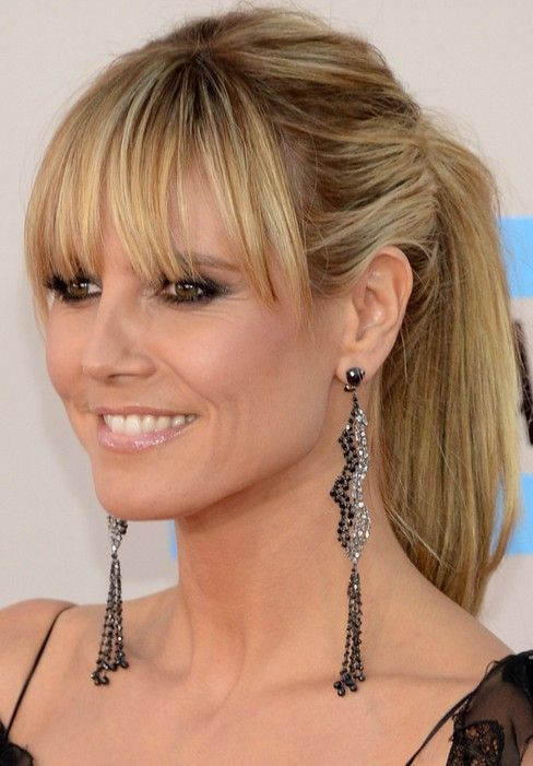 40 Perfect Haircuts and Hairstyles for Women Over 40 | Heidi klum .