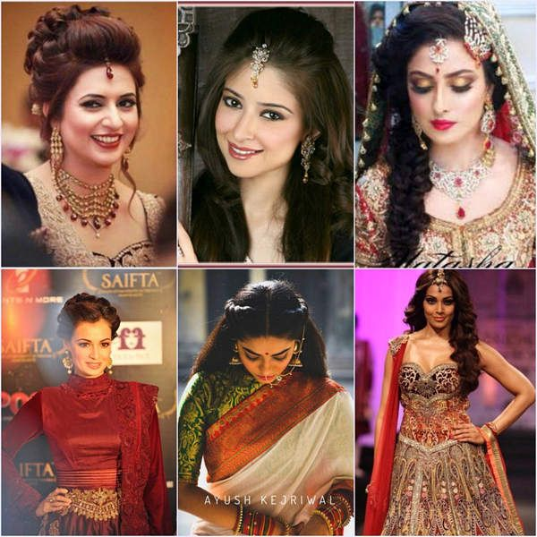 5 Celebrity-Inspired Hairstyle for Indian Wedding Party | Indian .