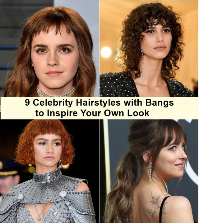 Celebrity Hairstyles with Bangs to Inspire You - NiceStyl