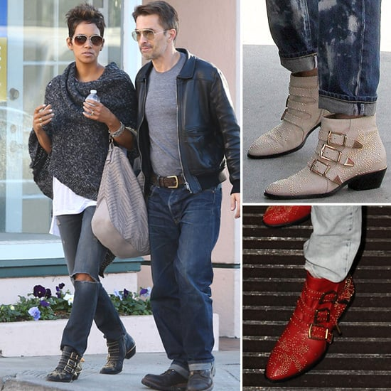 Celebrities Wearing Studded Chloe Ankle Boots | POPSUGAR Fashi