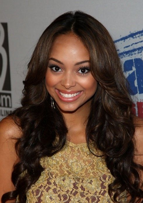 Cute Center Part Hairstyles for African American | Long hair .