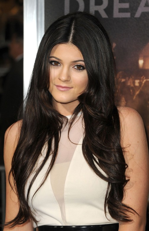 Long Black Center Part Hairstyle - Hairstyles Week