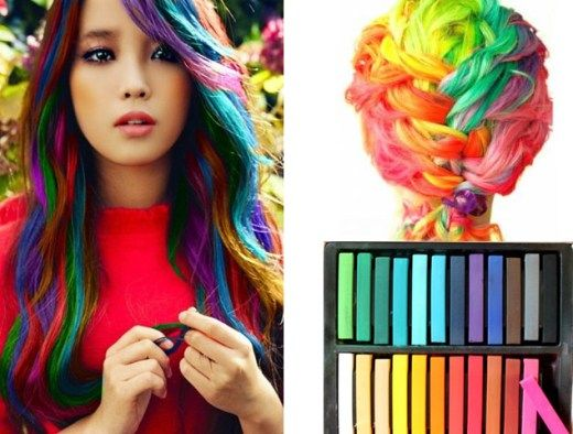Hair chalk: how to chalk dye your hair with crayons (best ideas .