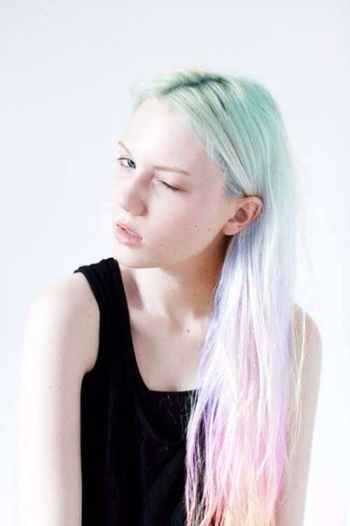 11 Chalk Dyed Hair Ideas You Must Love - Hairstyles 2018- 11 Chalk .