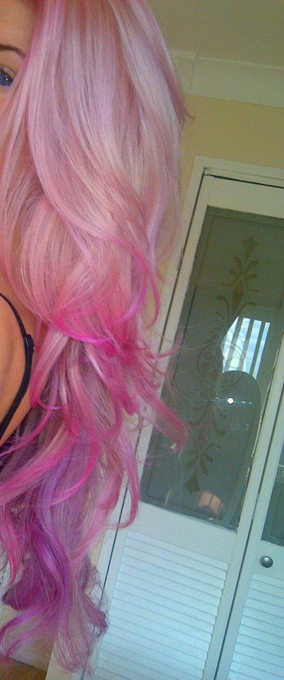 14 Charming Blond Hairstyles with Red Highlights | Pastel pink .