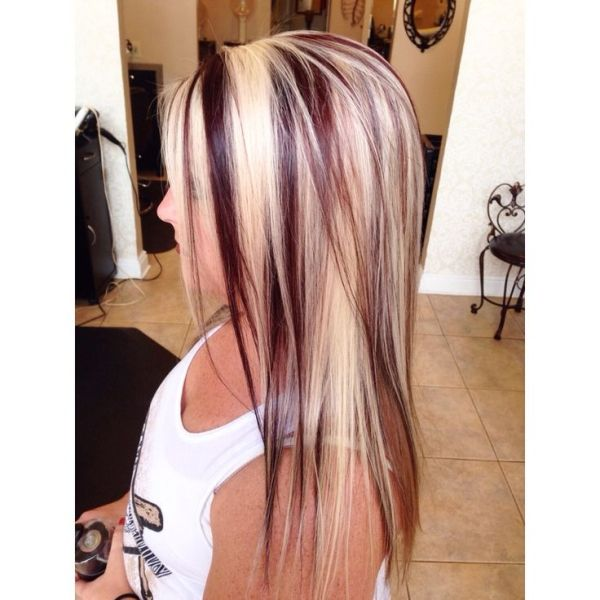 12 Blonde Hair with Red Highlights: Hair Color Ideas | Frisuren .