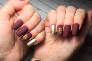 30+ Cute Burgundy Nail Designs ⋆ ffemale.c